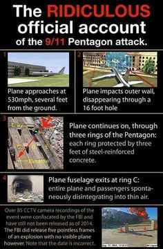 is a false flag and a fraud - Ridiculous Official Pentagon story 911 Conspiracy, Conspiracy Theories, Shadow Conspiracy, Illuminati, Weird Facts, Fun Facts, Crazy Facts, 11. September, Inside Job