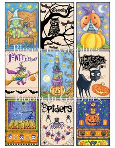 Halloween ATC cards - for inspiration