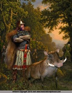 FREYR  NORSE GOD OF THE SON & LORD OF THE ELVES. (or Fricco of the Vanir {fertility gods]), Norse Myths and Legends: Illustrations of Norse Mythology; Mythic Norse Art by Contemporary American Artist Howard David Johnson
