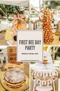 First BEE day First birthday party ideas-bumble bee party First Birthday Theme Girl, 1st Birthday Party For Girls, First Birthday Party Themes, One Year Birthday, 1st Birthday Party Ideas For Boys, Kids Party Themes, Circus Birthday, Circus Party, Birthday Photos