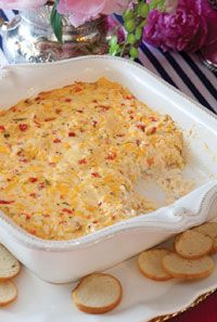 Hot Pimiento Cheese Dip - Preheat oven to 350°. Spray a 9-inch baking ...