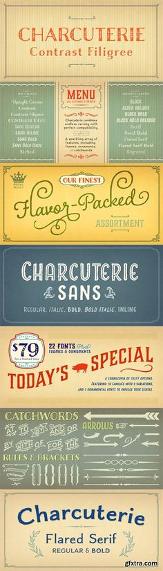 Charcuterie Font Family - 22 Fonts for $79