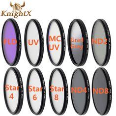 KnightX 52 85 67 mm FLD UV CPL MCUV 6 8 Point Star Cross Lens Filter Line for Canon EOS 60D EF-S camera DSLR D5200 D5300 D3100