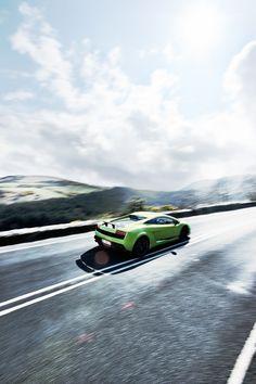 A test drive of the Lamborghini Gallardo Superveloce on the Isle of Man.Professional driver - no closed road.