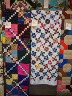 Love this nine patch quilt! - Seen at the 2014 Iowa State Fair.