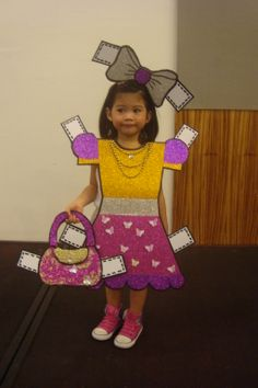 Paper Doll Costume for Halloween =)