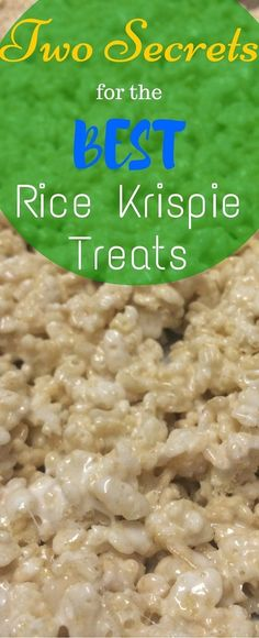 Every kid�s favorite dessert (at least at my house) has to be Rice Krispie treats!  The ingredients for this family favorite are easy to keep on hand, and