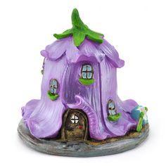 Miniature Fairy Garden Canterbury Bell Flower Fairy House - Violet - My Fairy Gardens