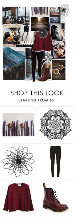 """""""🍁🍁"""" by gracieho3 ❤ liked on Polyvore featuring Coffee Shop, Ella Doran, Tiffany & Co., Universal Lighting and Decor, 7 For All Mankind, Dr. Martens and Frenchi"""