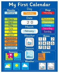 Magnetic Calendar - My First Calendar is a amazing magnetic toy. Magnetic Calendar - My First Calendar shows the day, date, month, season and weather. If you want to purchase Magnetic Calendar - My First Calendar, please contact us! Calendar Skills, Calendar Time, Kids Calendar, Toddler Calendar, Weather Calendar, Learning Toys, Preschool Activities, Preschool Prep, Magnetic Calendar
