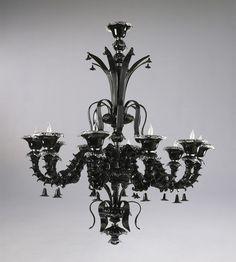 Venetian Noir 10 Light Chandelier