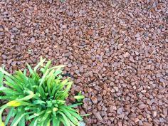 Red Gravel Stone available in or Stone Driveway, Gravel Driveway, Driveway Ideas, Decorative Gravel, Gravel Stones, Garden Spaces, Flower Beds, Garden Design, Backyard