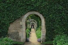 Walled garden - Château de Canon, Calvados, France