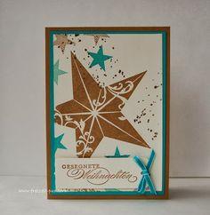 StampinUp! Christmas Star - weihnachtliche(r) Einzelstempel Simply Stars, Georgeous Grunge, Wunderbare Weihnachtsgrüße Embossing Gold