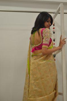 Saree @Kavya Yenigalla Kriti
