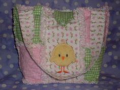 Handmade Little Girls Easter Rag Quilt Her by ForKeepsBabyBoutique, $25.00