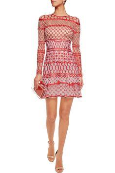 Temperley LondonMini Fishnet embellished silk-blend mini dressfront