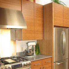 Beautiful Bamboo Slab Cabinet Doors