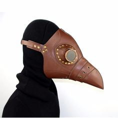 (43.01$)  Buy here - http://aics2.worlditems.win/all/product.php?id=32796577421 - [PCMOS] Plague Doctor Mask Bird Beak Steampunk Punk Gothic Halloween Makeup Cosplay Brown Model Mask Toy Collection 17030203