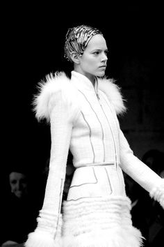 Freja Beha Erichsen, at Alexander McQueen, Fall 2011, Fashion Show.