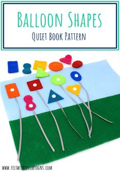 FREE PATTERN for a super fun circus balloon shape matching quiet book page. Learn to sew your own circus-themed quiet book using the free patterns and tutorials in the series. If you want to learn how to make a quiet book, click through and download the free circus quiet book patterns in the series. This shape matching quiet book page will not only teach shapes but also colors and fine motor work. And, it has some fun sensory features. #freepattern #quietbook #sewingforkids #feltcraft Quiet Book Patterns, Sewing Patterns Free, Free Pattern, Quiet Time Activities, Math Activities, Sewing For Kids, Baby Sewing, New Baby Gifts, Gifts For Kids