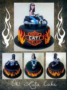 Harley davidson cake,   I  love this one!!!