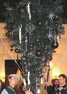 We had to do the upside down tree when the baby was little! christmas-tree-gothic-neo-modern-decorating-ideas
