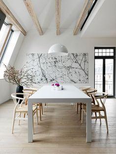 dining wishbone chairs