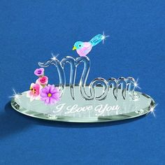 "Glass Baron ""I Love You"" Mom with Bluebird Figurine #mom #mothersday #glassbaron"