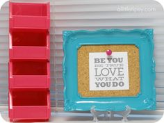 Creative Picture Frames to add color and style #quotes