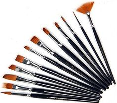 Artist Paintbrush Set 12 Piece Watercolor Paint Art Supplies #Outop