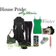 """""""House Pride: Slytherin"""" by virtigotara on Polyvore"""
