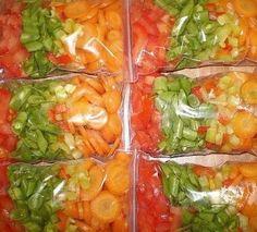 Секреты заморозки овощей…