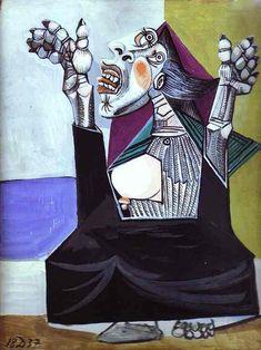 La suplicante por Pablo Picasso (1937) La pintura representa los sentimientos de la gente común durante la guerra civil entre los años 1936-1939.