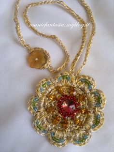 collana,uncinetto,sole,mare,tutorial