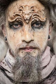 Talented Lion on forehead prosthetics - cool aged character #makeup