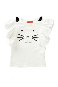 Cat Flutter Sleeve Top. Cute cute