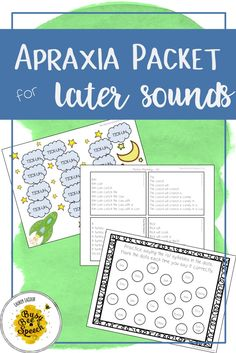 Speech therapy materials that address apraxia are hard to find, especially for those later sounds!  This one is easy to use and great for SLPs.