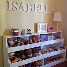 Estante de brinquedos no quarto para minha querida Isy! #brinquedoteca #brinquedos #organização #homedecor #homesweethome #homeideas #vidapratica #personalorganizer