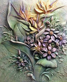 Paper Clay Art, Clay Wall Art, Acrylic Pouring Techniques, Plaster Art, Dragon Pictures, Buddha Art, Sculpture Painting, Carving Designs, Clay Flowers
