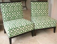 love these upholstered chairs