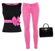 """""""Pinkalicious"""" by kikiflawless ❤ liked on Polyvore featuring beauty, Boutique Moschino, J.Crew and Mulberry"""