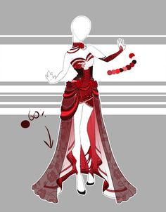 ::Outfit Adoptable by Scarlett-Knight on DeviantArt Dress Drawing, Drawing Clothes, Dress Sketches, Fashion Sketches, Anime Outfits, Cool Outfits, Anime Dress, Fantasy Dress, Fashion Art
