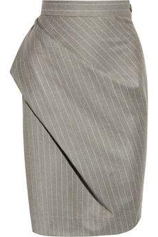 Vivienne Westwood Anglomania Philosophy pinstripe wool pencil skirt