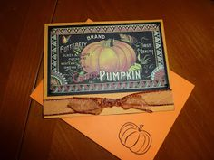 Vintage style Halloween or Fall card TaylorMade4U Cards
