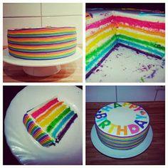 Sallys bunte Tortenwelt: Sallys Regenbogentorte / Rainbowcake