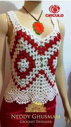 Débardeurs Au Crochet, Pull Crochet, Gilet Crochet, Mode Crochet, Crochet Shirt, Crochet Jacket, Crochet Woman, Crochet Granny, Crochet Crafts