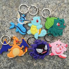 #AliExpress Wholesale free shipping Cartoon Pokemon figures pvc keychains anime Pikachu Bulbasaur Gastly Chansey Squirtle cute pendants (32733044513) #SuperDeals