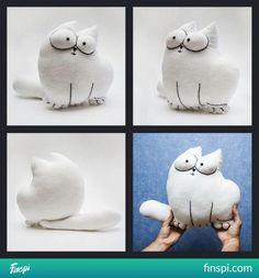 Kot simona, Simon's cat #kot #diy #poduszka #maskotka #przytulanka