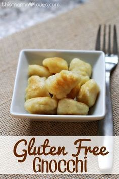 Homemade Gluten Free Gnocchi 2 Cups Mashed Potatoes 1 Cup Pamela's Gluten Free All-Purpose Artisan Flour 1 Egg tsp Salt Instructions: Begin by placing cup of your flour onto a clean, smooth work surface. Add the room temperature mashed potatoes t Gluten Free Pizza, Gluten Free Cooking, Gluten Free Desserts, Dairy Free Recipes, Gf Recipes, Eating Gluten Free, Gluten Free Dinners, Wheat Free Recipes, Gnocchi Sans Gluten